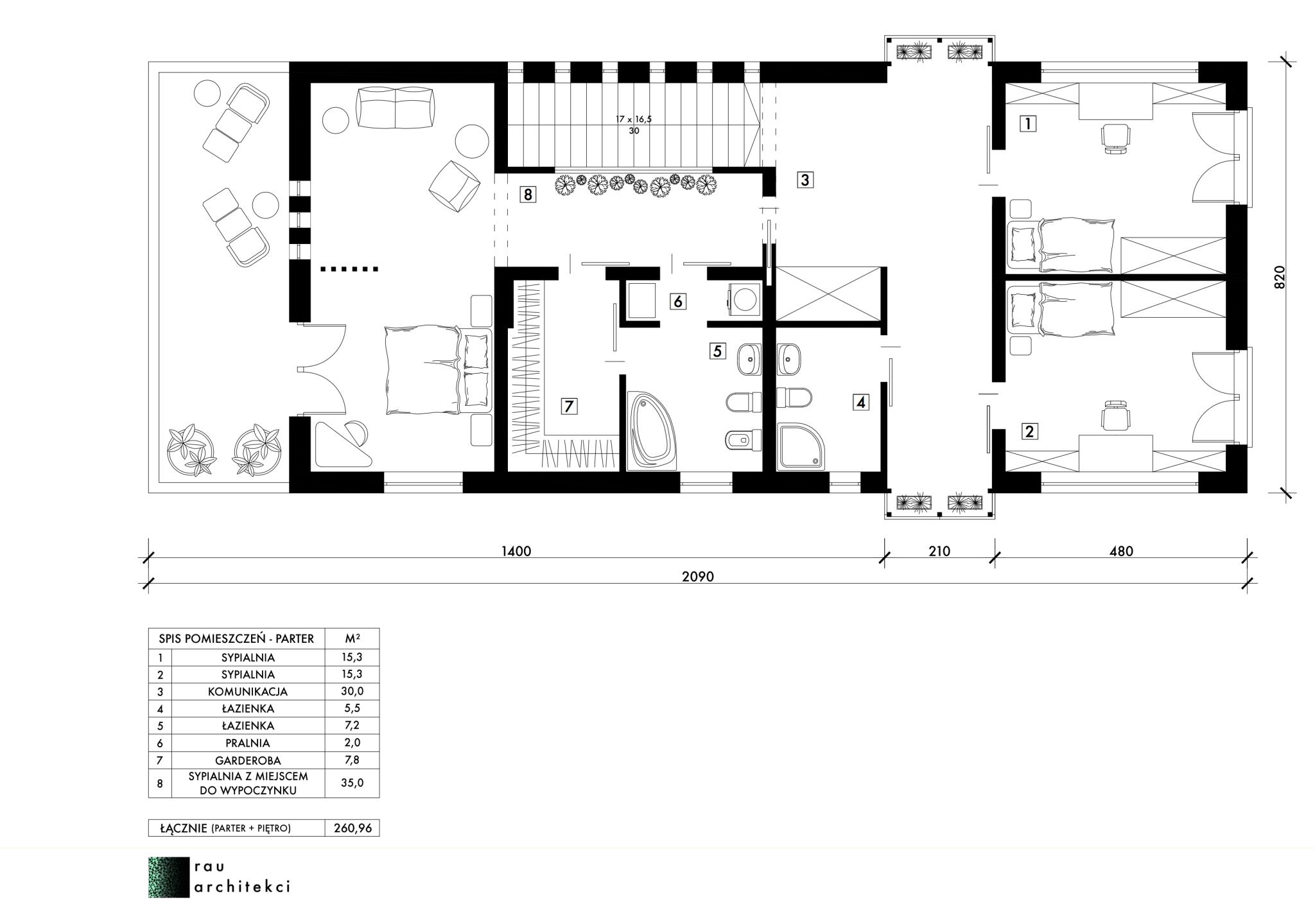 dom nowoczesny jednorodzinny piętro