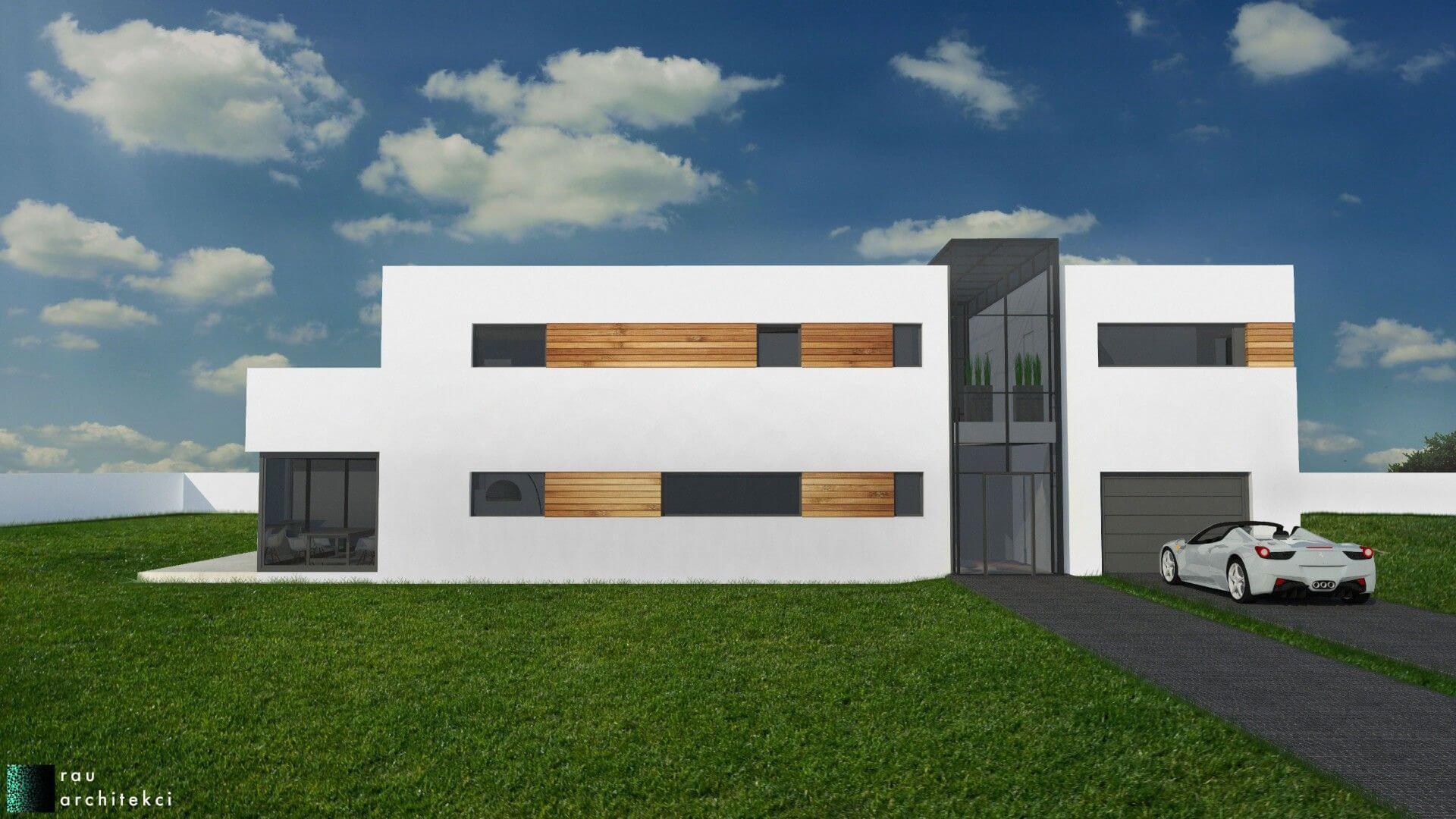 Dom nowoczesny jednorodzinny rau architekci łódź 2