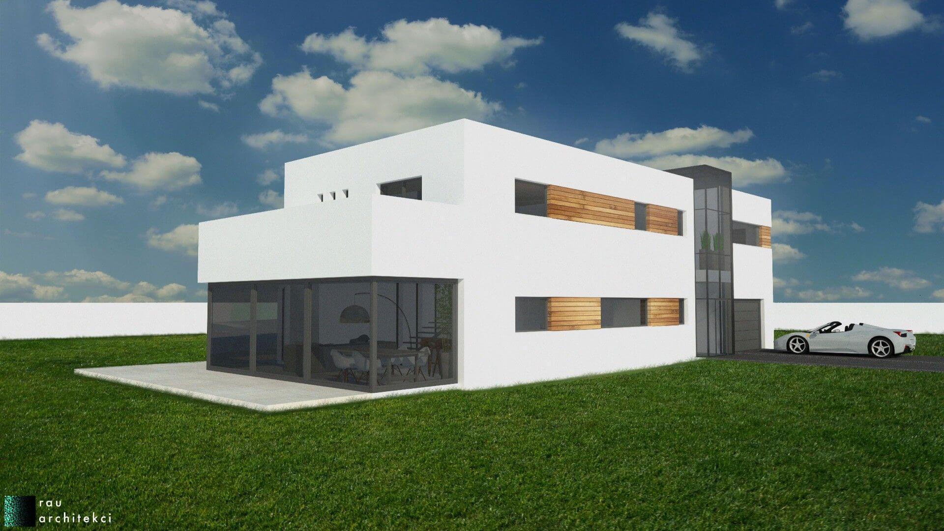 dom nowoczesny jednorodzinny rau architekci łódź 3