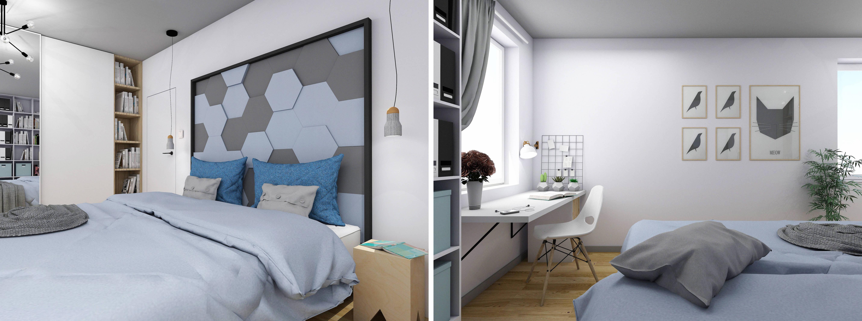 Projektowanie wnętrz - projekt sypialni