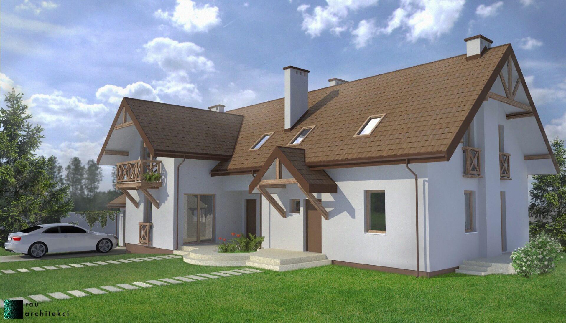 Dom Dwurodzinny Rau Architekci Łódź 2
