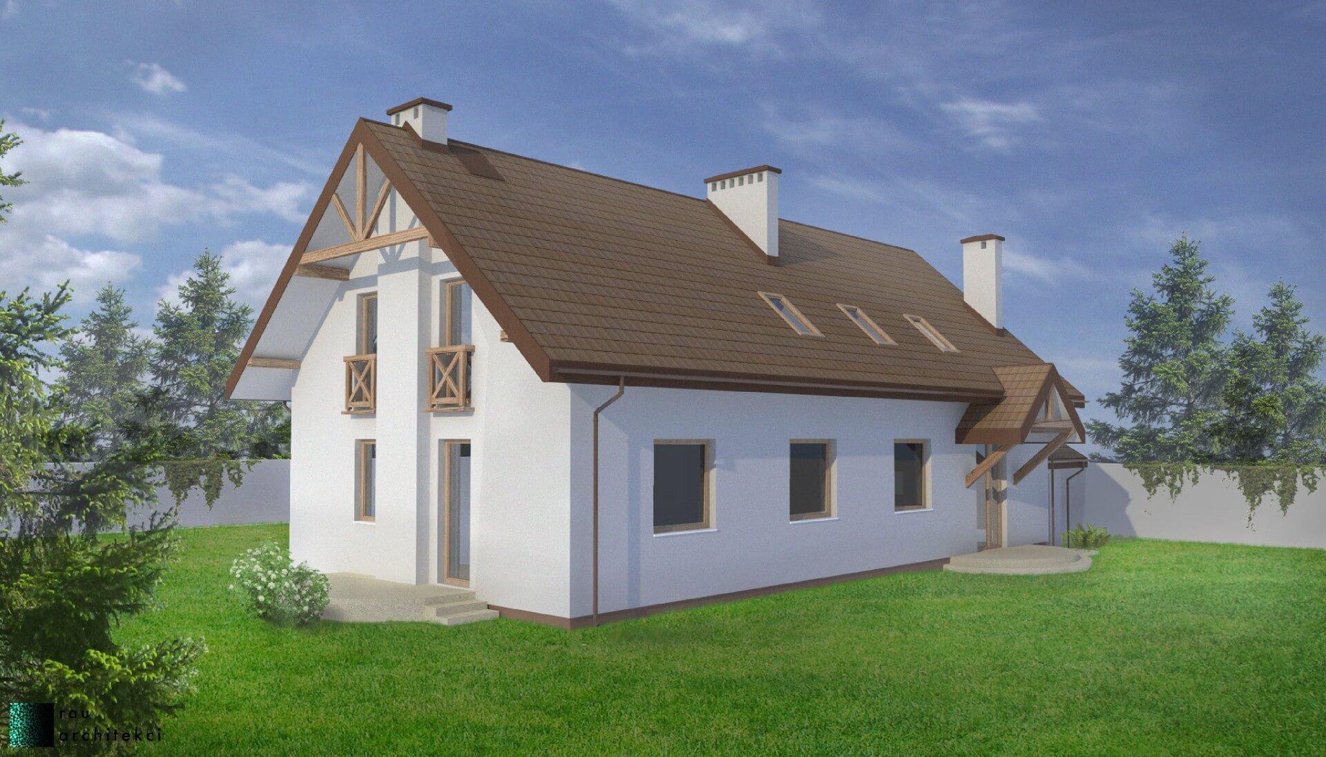Dom Dwurodzinny Rau Architekci Łódź 4