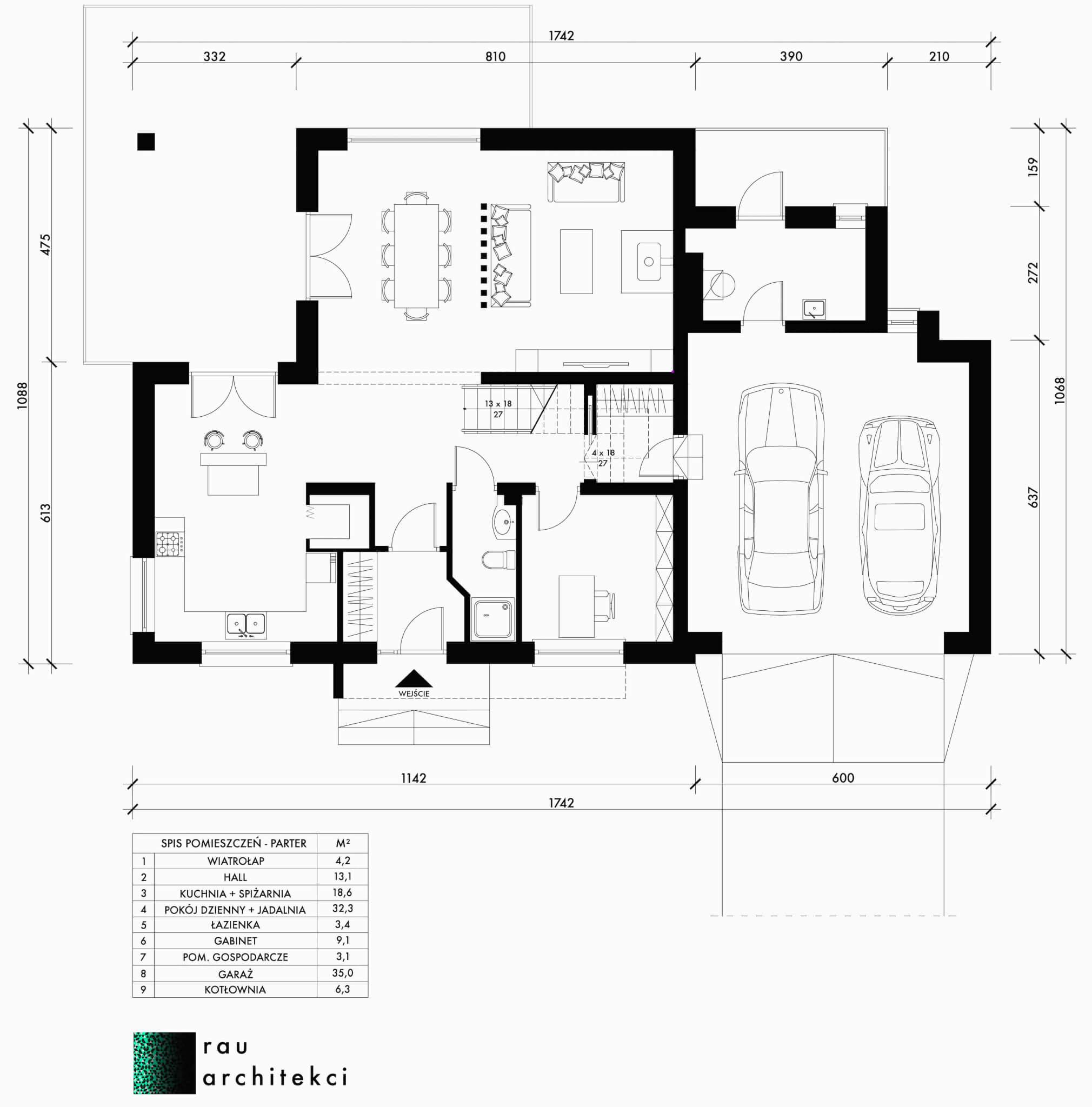 dom jednorodzinny parter