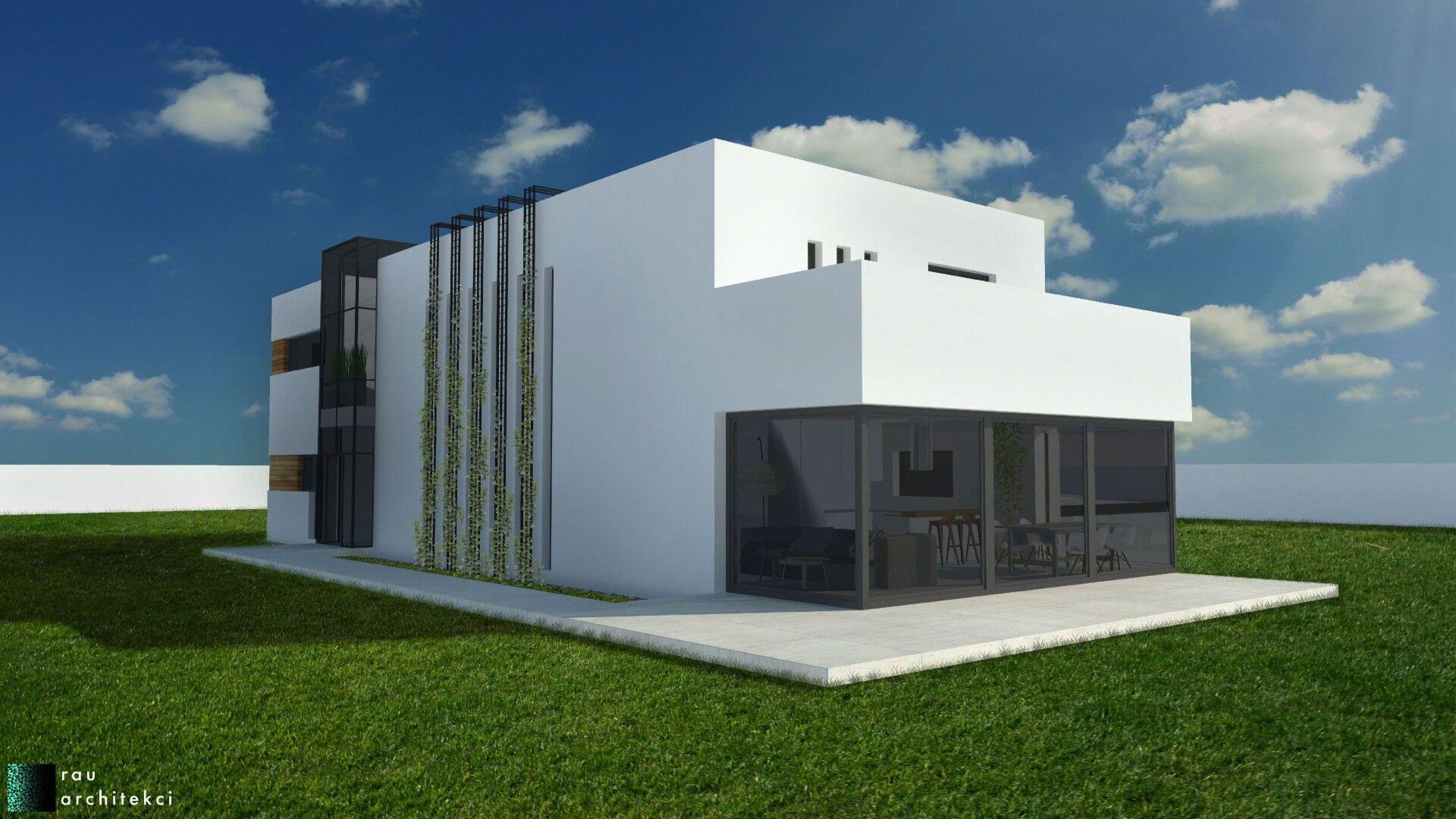 dom nowoczesny jednorodzinny rau architekci łódź 4