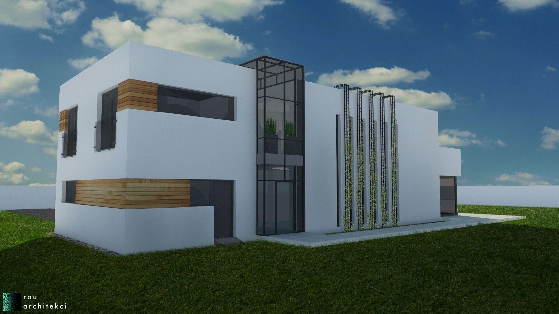 dom nowoczesny jednorodzinny rau architekci łódź 5