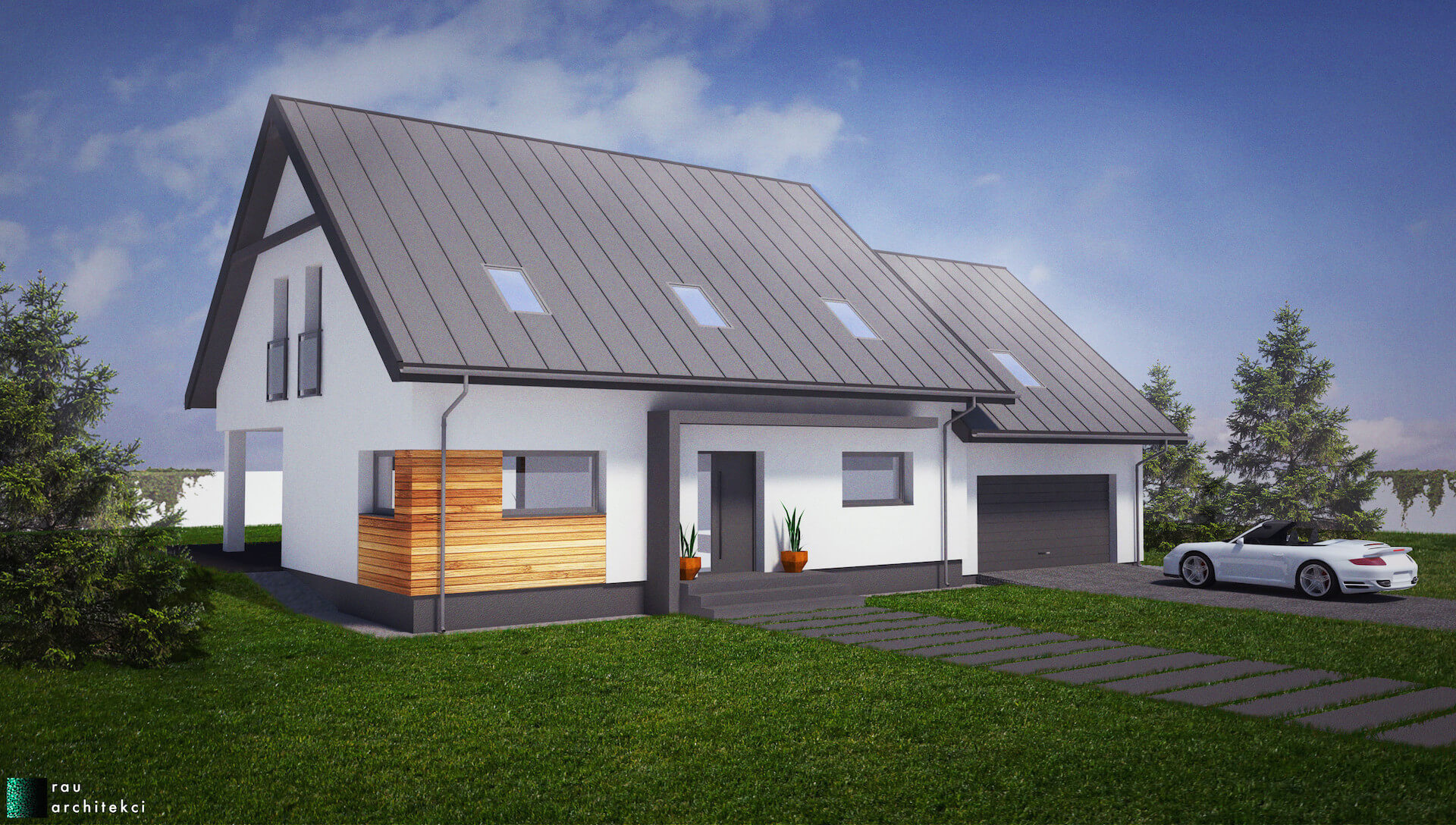 Dom Jednorodzinny Rau Architekci Łódź 1